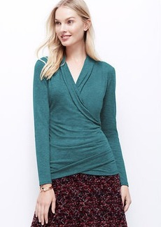 Sweater Jersey Wrap Top