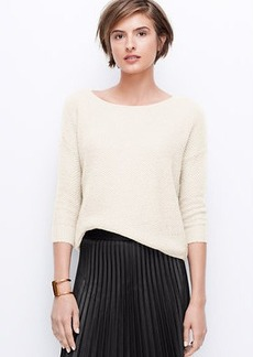 Textured Drop Shoulder Cropped Sweater