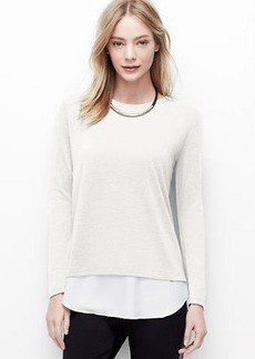 Woven Shirttail Hem Top