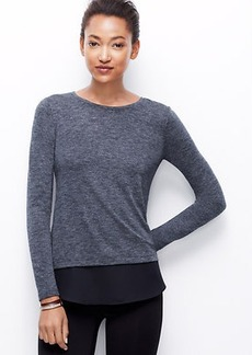 Woven Shirttail Hem Top