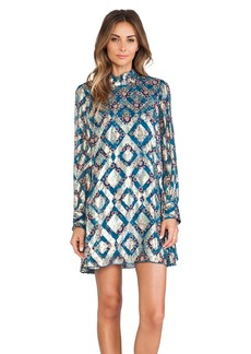 Anna Sui Aztec Foulard Print Mini Dress