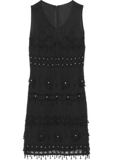 Anna Sui Embellished georgette dress