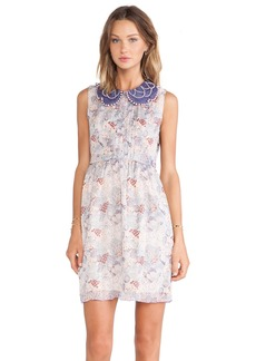 Anna Sui Floral Melody Mixed Prints Tank Dress