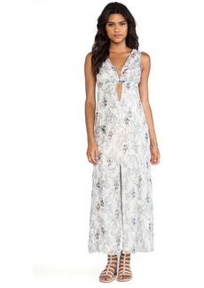Anna Sui Iris Print Maxi Dress