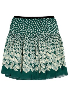 Anna Sui Letters printed georgette mini skirt
