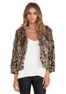 Anna Sui Rabbit Fur Jacket