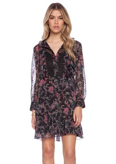 Anna Sui Rococco Pavillions Print Shirt Dress