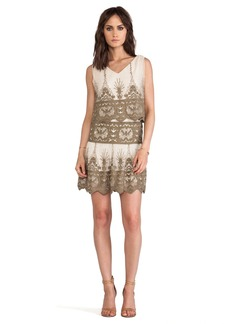 Anna Sui Secret Garden Embroidery Dress