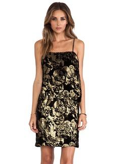 Anna Sui Village Burnout Mini Dress
