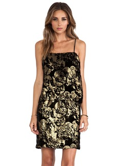 Anna Sui Village Burnout Mini Dress