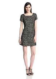Anna Sui Women's Boucle Tweed Shift Dress