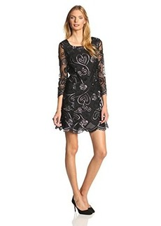 Anna Sui Women's Deco Embroidered Lace Shift Dress