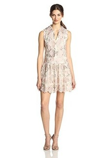 Anna Sui Women's Deco Embroidered-Mesh Lace Sleeveless Dress