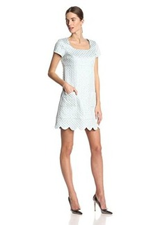 Anna Sui Women's Deco Metallic Jacquard Shift Dress