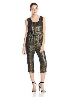 Anna Sui Women's Floral Metallic Jacquard Jumpsuit