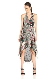Anna Sui Women's Granny Takes A Trip Patchwork Silk Halter Dress