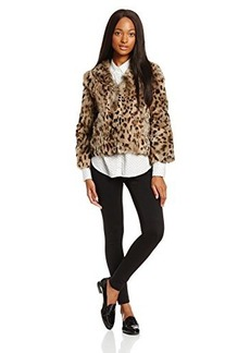 Anna Sui Women's Leopard Rabbit Fur Jacket