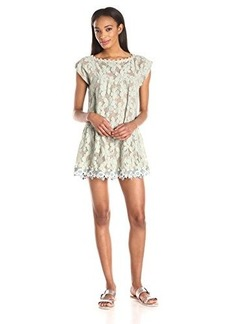 Anna Sui Women's Pansy Mesh Lace Tunic