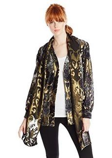 Anna Sui Women's Shangri La Burnout Velvet Jacket
