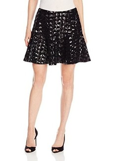 Anna Sui Women's Triangle-Check Sequins Fit-and-Flare Skirt