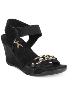 AK Anne Klein Lacyann Sport Wedge Sandals