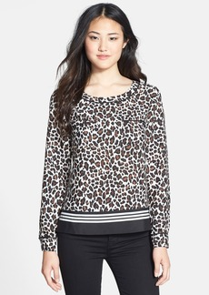 Anne Klein Animal Print T-Shirt Blouse (Regular & Petite)