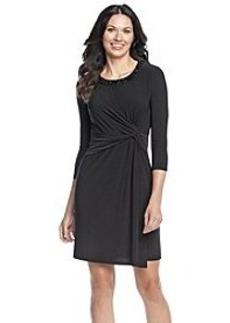 Anne Klein® Bead Neck Sheath Dress