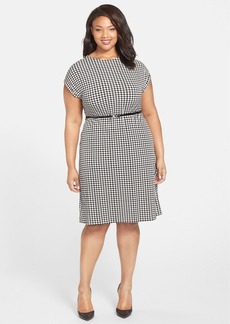 Anne Klein Belted Floral Print Dress (Plus Size)