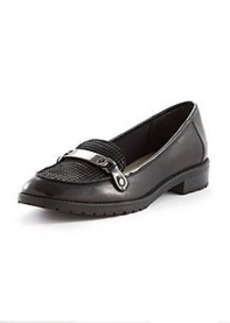 "Anne Klein® ""Bryanna"" Tailored Loafers with Chain Detail"