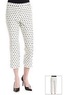 Anne Klein® Clipped Jacquard Long Pants
