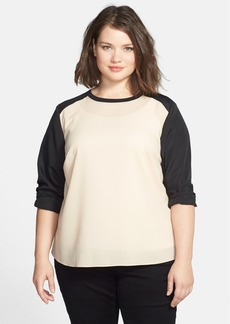 Anne Klein Colorblock Blouse (Plus Size)