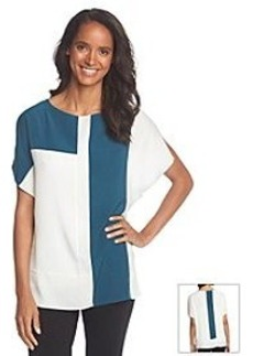 Anne Klein® Colorblock Flutter Sleeve Blouse