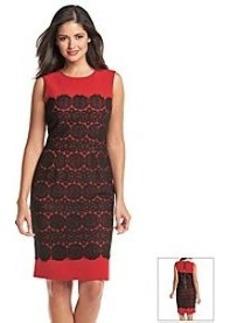Anne Klein® Crocheted Overlay Sheath Dress