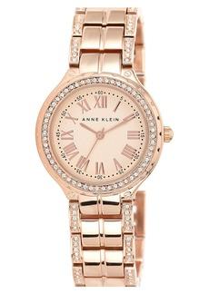 Anne Klein Crystal Accent Bracelet Watch, 32mm