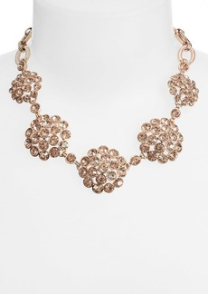 Anne Klein Crystal Cluster Frontal Necklace