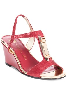 Anne Klein Edlynn T-Strap Wedge Sandals