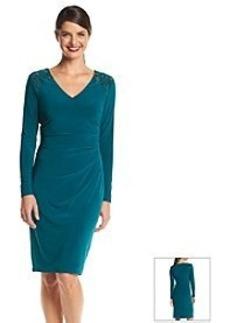 Anne Klein® Embellished Jersey Dress