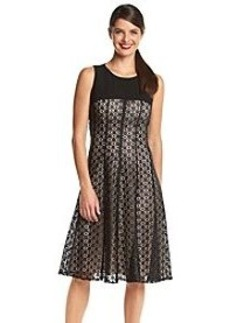 Anne Klein® Lace Fit And Flare Yoke Dress