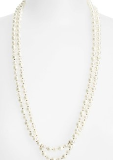 Anne Klein Long Glass Pearl Necklace