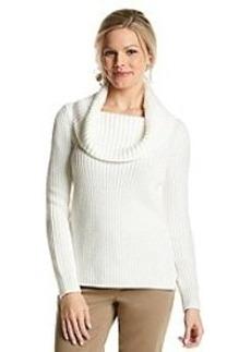 Anne Klein® Long Sleeve Cowlneck Pullover