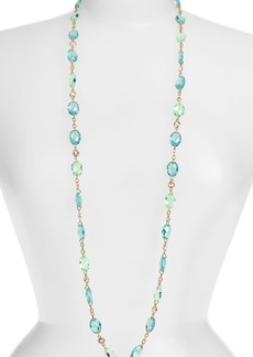 Anne Klein Long Stone Station Necklace