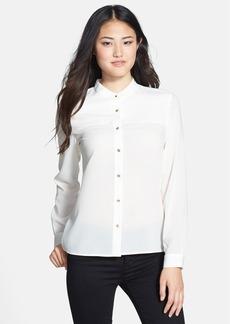 Anne Klein Mandarin Collar Blouse (Regular & Petite)