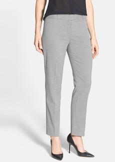 Anne Klein Microcheck Slim Leg Ankle Pants (Petite)