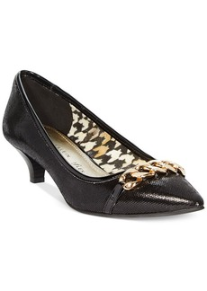 Anne Klein Mikaela Kitten Heel Pumps- A Macy's Exclusive