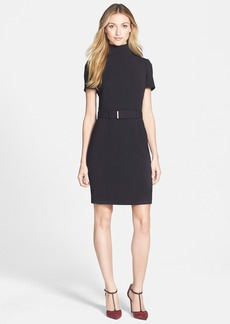 Anne Klein Mock Neck Sheath Dress