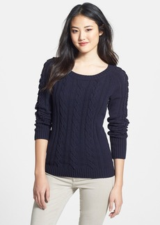 Anne Klein Open Detail Cable Knit Sweater