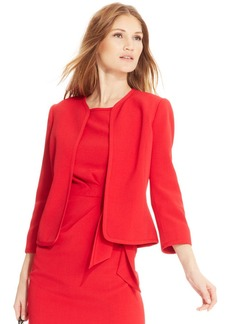 Anne Klein Petite Collarless Open-Front Jacket