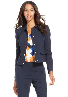 Anne Klein Petite Point-Collar Snap-Front Jacket