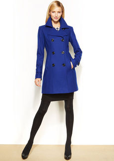 Anne Klein Petite Wool-Blend Double-Breasted Pea Coat