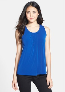 Anne Klein Pleat Neck Sleeveless Top (Regular & Petite)